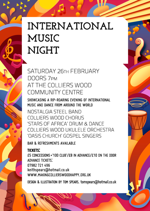 Flyer for music evening